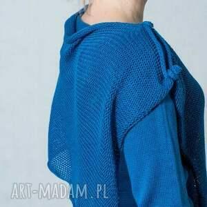 bawełna swetry niebieski sweter z szalem
