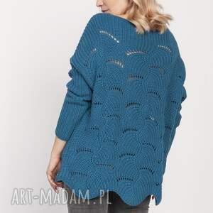 eleganckie swetry sweter oryginalny sweterek, swe181 morski