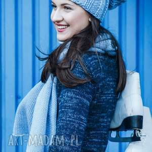 handmade swetry półgolf granatowo-niebieski