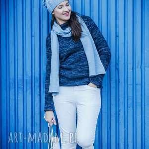swetry sweter półgolf granatowo-niebieski