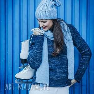 sweter swetry półgolf granatowo-niebieski