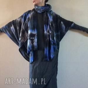 swetry: Ręcznie barwiony kardigan noc polarna dzianina