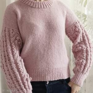 wełniany swetry różowy bomberek