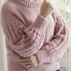swetry wełniany różowy bomberek