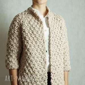 handmade swetry sweter short beige chunky