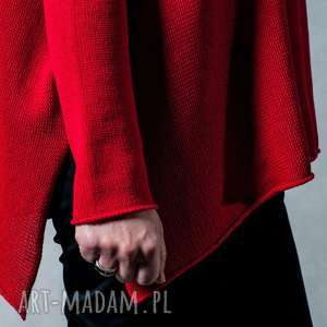 bawełna swetry sweter czerwony