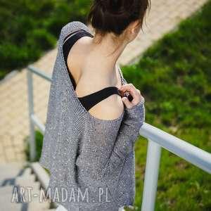 ręcznie robione swetry sweter luźny, z dużym