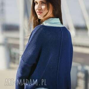 swetry sweter luźny z dużym dekoltem