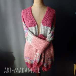 hand made swetry sweter mohair/wełna