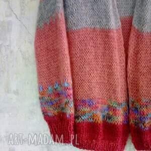 sweter z-mohairu mohair/wełna
