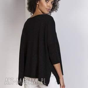 urokliwe swetry sweter oversize, swe114 czarny