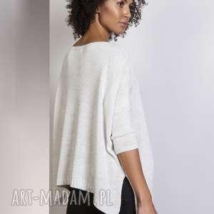 ciekawe swetry sweter oversize, swe114 ecru
