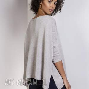 swetry sweter oversize, swe114 szary