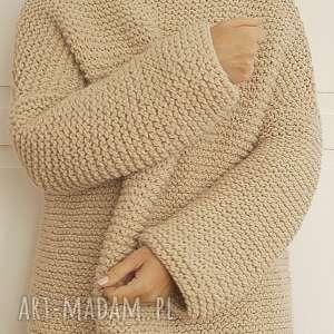 ręczne wykonanie swetry sweter w ciepłym beżu