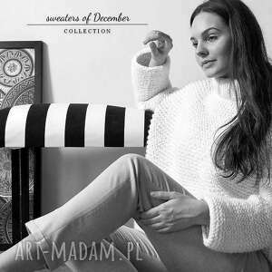 ręczne wykonanie swetry masywny sweter w ciepłym beżu