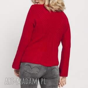 MKM swetry Sweter z delikatną stójką, SWE175 czerwony MKM - Hand Made