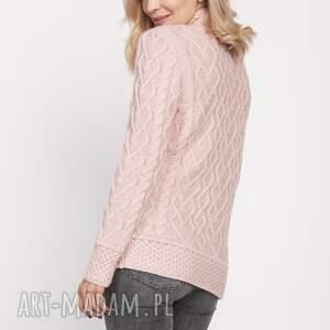 swetry półgolf sweter z półgolfem, swe211 róż
