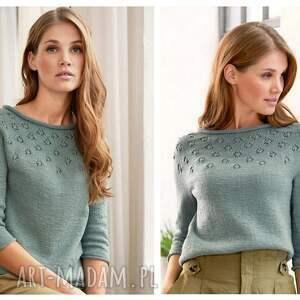 intrygujące swetry sweter sweterek wykonywany jest ręcznie ze 100% wełny