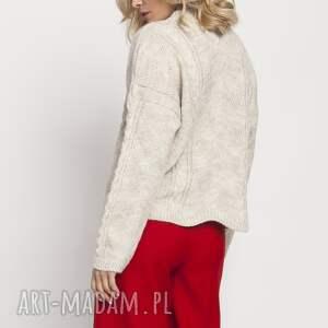 swetry sweter sweterek, swe180 beż mkm