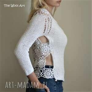 ażurowy swetry sweterek z ażurowym tyłem
