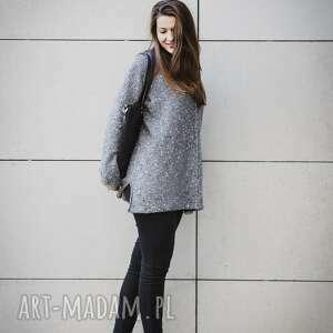 melanż swetry szary melanżowy sweter
