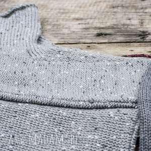 swetry wełna szary sweter