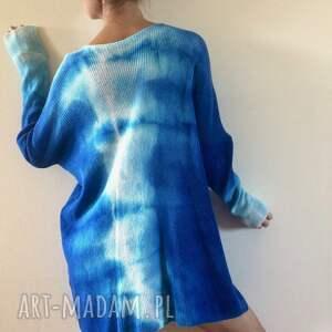 swetry sweter unikatowy ręcznie barwiony wełniany