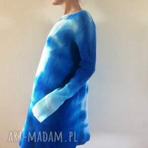 dzianina swetry unikatowy ręcznie barwiony wełniany