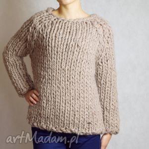 gruby swetry warm-beige chunky