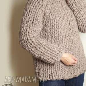 swetry gruby warm -beige chunky
