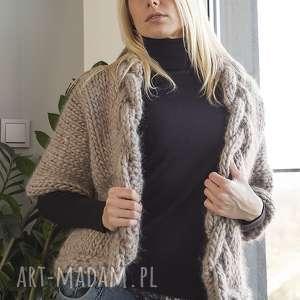 niepowtarzalne swetry wełna wełniany warkocz