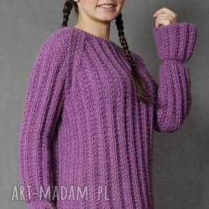 wyjątkowe swetry wrzosowy sweter