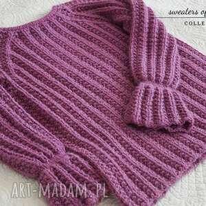 dziergany swetry wrzosowy sweter
