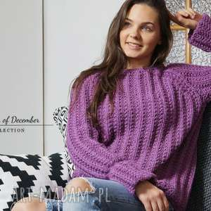 wyjątkowe swetry dziergany wrzosowy sweter