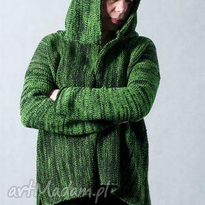 zielone swetry sweter zielony melanżowy rozpinany
