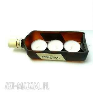 niekonwencjonalne świeczniki butelka dla twojego faceta. świecąca whisky