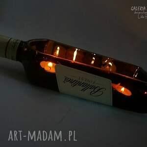 niekonwencjonalne świeczniki świeczki dla twojego faceta. świecąca whisky