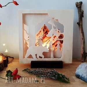 brązowe świeczniki las drewniany świecznik przez - do