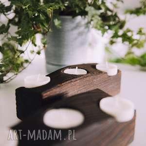 świeczniki rustic drewniany świecznik z belki