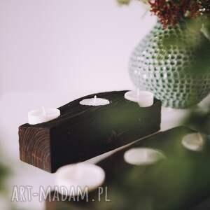 rustic świeczniki drewniany świecznik z belki