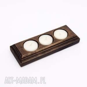 handmade świeczniki rustykalny drewniany świecznik
