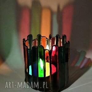 kolorowy świeczniki lampion, świecznik z kolorowego