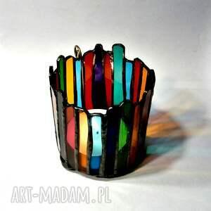 kolorowe świeczniki lampion, świecznik z kolorowego
