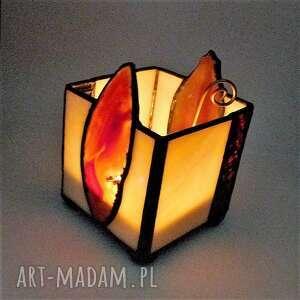 frapujące świeczniki tiffany prezent. świecznik. lampion
