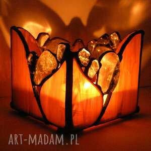 kamienie naturalne świeczniki świecznik brązowy