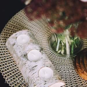 unikalne świeczniki świecznik brzozowy