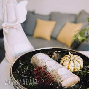 rustykalny świecznik brzozowy