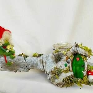 świąteczny prezent świecznik dekoracyjny. Magiczne