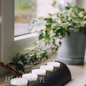 świeczniki rustykalny świecznik ze starej belki