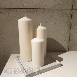 świeczniki świecznik tacka betonowa podstawka podkładka